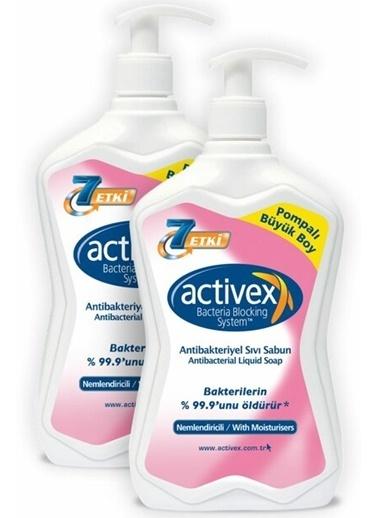 Activex Activex Antibakteriyel Sıvı Sabun Nemlendirici 700 ml x 2 Adet Renksiz